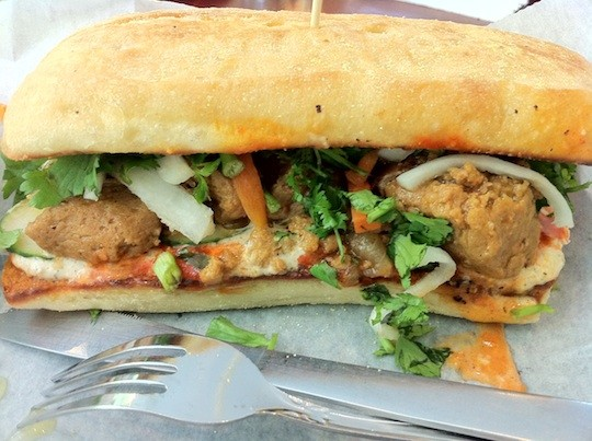 The vegetarian banh mi at SweetArt - BRYAN PETERS