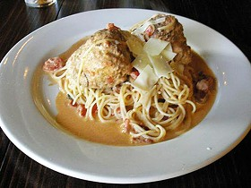 Spaghetti and meatballs at Sugo's Spaghetteria - IAN FROEB