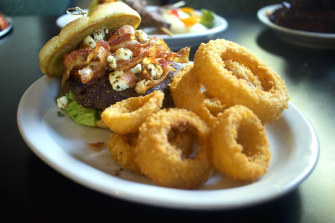"""The """"Bacon Black & Blue Steakburger"""" is one of Oday Alyatim's favorite dishes. - CHERYL BAEHR"""