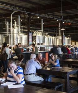 Inside the bierhall. - JENNIFER SILVERBERG