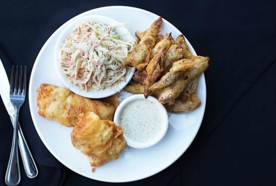 Fish and chips at J Greene's.   Jennifer Silverberg