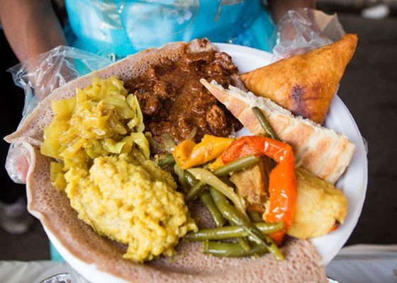 Eats from the Eritrean tent at last year's Festival of Nations. | Theo Welling