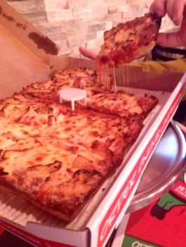 Jet's Pizza's BBQ Chicken 8 Corner Pizza with Turbo Crust. - EVAN C. JONES