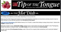 Sign up for Tip of the Tonguehere.