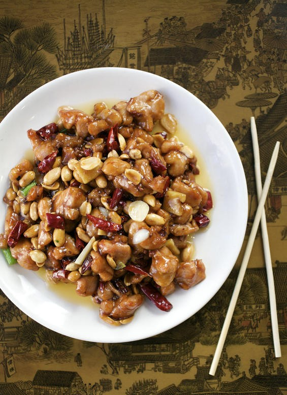 "Kung pao chicken is probably the best-known dish on Joy Luck Buffet's ""authentic"" menu. - JENNIFER SILVERBERG"