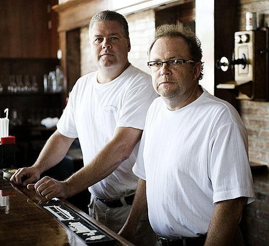 Quincy Street Bistro owners Mike Enright (left) and Kevin Winkler. - JENNIFER SILVERBERG