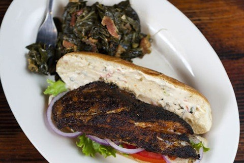 Sassy JAC's collard greens with the grouper sandwich | Jennifer Silverberg