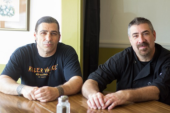 Chef George Potsos and owner Matthew Mulholland.