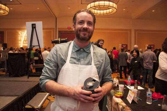 Three Flags Tavern chef Scott Davis won the chef's competition at Iron Fork 2015. | Micah Usher