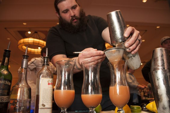 Tony Saputo pours his winning drink, a return to a serious mai tai. | Micah Usher