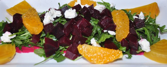 Beet salad at Robust. - TARA MAHADEVAN