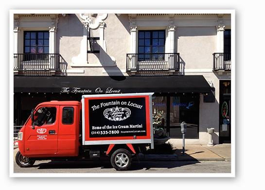 The Fountain's ice cream martini truck. | Courtesy of Joy Christensen