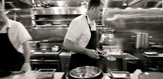 Executive chef Patrick Connolly in the Basso kitchen | Jennifer Silverberg