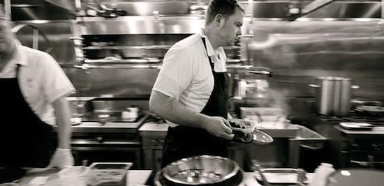 Executive chef Patrick Connolly in the Basso kitchen | Jennifer Silverberg