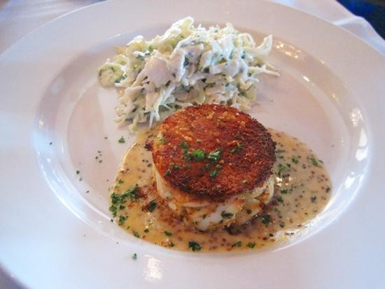 The crab cake at BrickTop's Restaurant in Plaza Frontenac - IAN FROEB