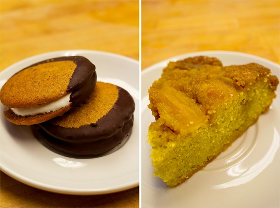 Home-made moonshine pies; Apple upside-down cake. - MABEL SUEN