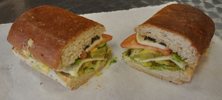 Veggie sandwich at Gioia's Deli. | Tara Mahadevan
