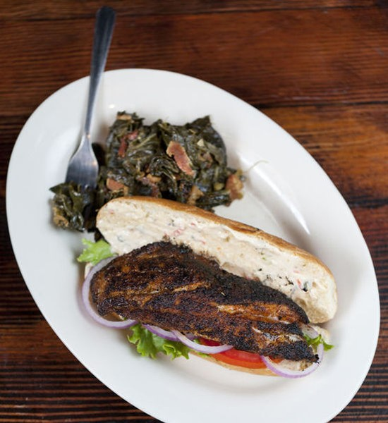 The blackened grouper sandwich at Sassy JAC's - JENNIFER SILVERBERG