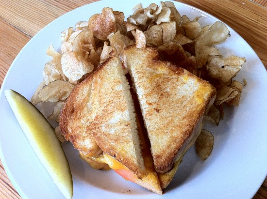 The grilled-cheese sandwich at Half & Half. - DANIELLE LESZCZ