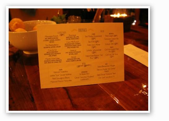 Juniper's excellent drink list. | Zach Garrison