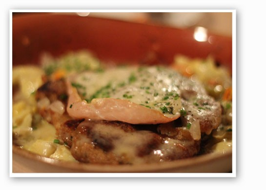Veal piccata with prosciutto and a lemon caper sauce at Cucina Pazzo. | Nancy Stiles
