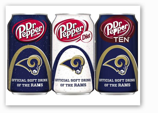 The new Dr Pepper cans. | St. Louis Rams
