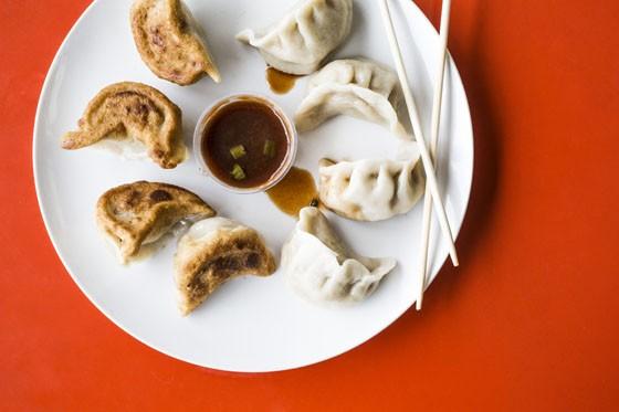 Steamed and fried dumplings. | Jennifer Silverberg