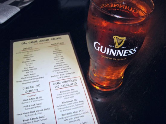 A pint of Magners served up at The Dubliner. - ERIKA MILLER