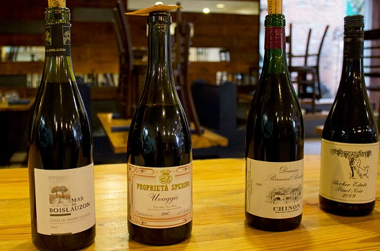 A selection of old-world wines for potential wine program pairings. - MABEL SUEN