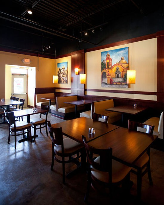 The interior of Fiesta! Modern Mexican Cuisine - JENNIFER SILVERBERG