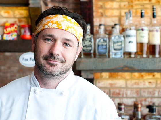 The Purple Martin's executive chef Chase Overacker.   Caroline Yoo