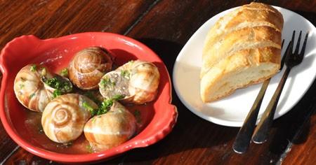 """Ozark forest mushroom """"escargot"""" at Table.   Tara Mahadevan"""