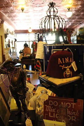Rue Lafayette is one part cafe and one part antique store. - MABEL SUEN