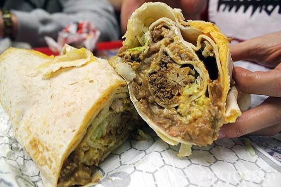 A churro wrapped inside a burrito wrapped inside a nightmare. - IMAGE VIA FOODBEAST