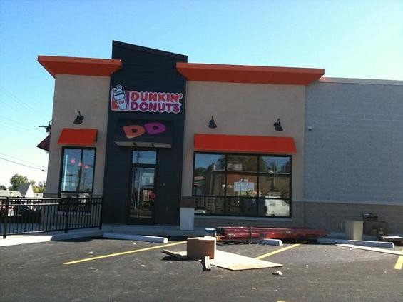 Work is wrapping up on the new Rock Hill location of Dunkin' Donuts. - TOM FINKEL