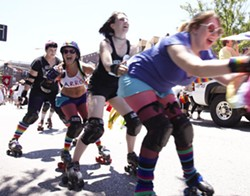 Arch Rival Roller Girls at a previous PrideFest parade - STEVE TRUESDELL