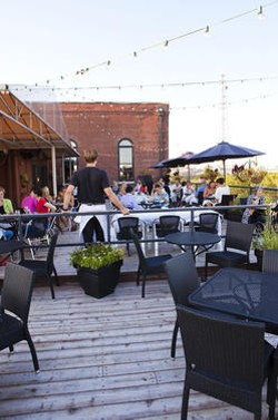 """The rooftop deck at Vin de Set: """"I can see my house from here!"""" - LAURA ANN MILLER"""