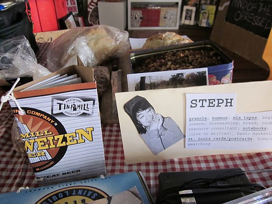 A table of offerings from a previous Barter Fest. - WILL FISCHER
