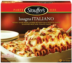Stouffer's Lasagna Italiano or stuffed peppers? It's anyone's guess. - IMAGE VIA
