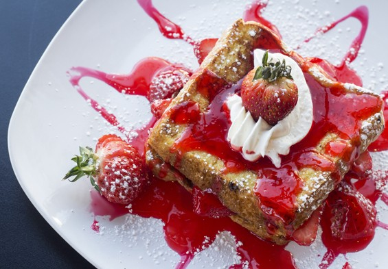 Strawberry french toast. | Mabel Suen