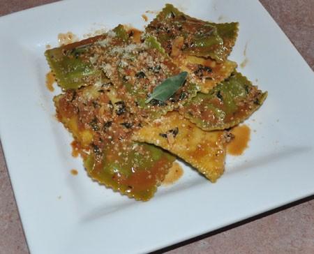 Mushroom ravioli at Benton Park Cafe | Tara Mahadevan
