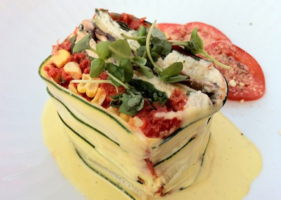 Raw vegetable lasagna at Scape. | Bryan Peters