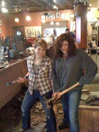 They're taking hammers to floor of the Royale, which will be closed until Wednesday. - FROM THE ROYALE FACEBOOK PAGE.