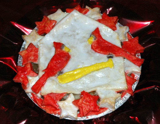 A Cardinals-themed hand-painted pie by River City Savories. - COURTESY OF LAURA VAN ALSTINE