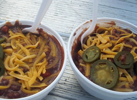 Taste-testing at the annual chili cook-off in Belleville, Illinois. | Robin Wheeler