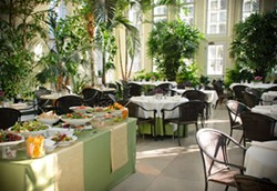 Cafe Madeleine, in Tower Grove Park's Piper Palm House, celebrates a decade of Sunday brunch service this month - COURTESY OF BUTLER'S PANTRY
