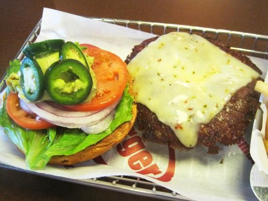 "The ""Spicy Baja"" burger at Smashburger - IAN FROEB"