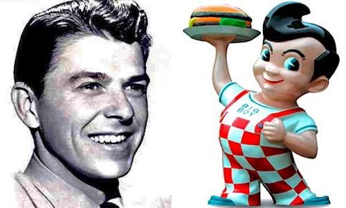 Big Boy resembles a young Ronald Reagan, are we right?