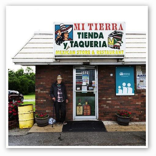 Lucho Roman, a friend of the owner, in front of Mi Tierra   Jennifer Silverberg