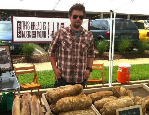 Alex Carlson of Red Guitar Bread takes baking seriously. - HOLLY FANN
